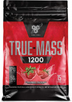 Гейнер BSN True Mass 1200 Weight Gainer, клубника, 4650 г