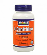 Аминокислоты NOW Ornithine 500 mg 60 капс.