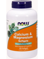 Витамины Now Foods Calcium & Magnesium + D 120 капс.